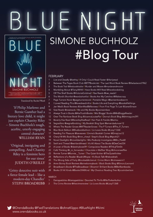 BLUE NIGHT Blog Tour Poster