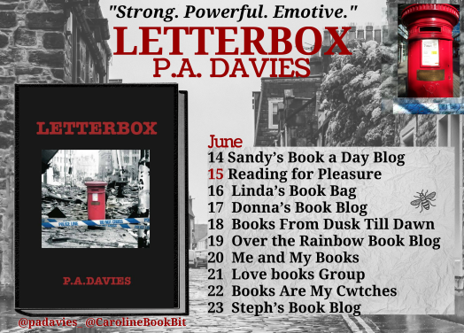 Letterbox - P.A. Davies - Book Blog Tour Poster
