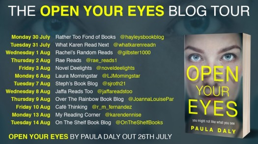 Open Your Eyes Blog Tour Poster