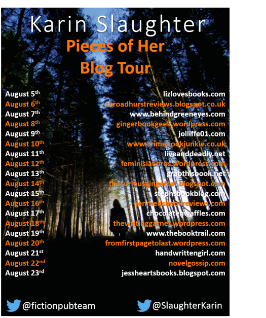 Pieces of Her blog tour banner