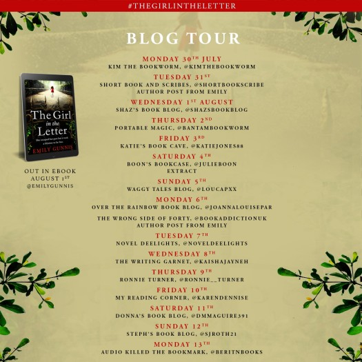 The Girl In The Letter Blog Tour Poster