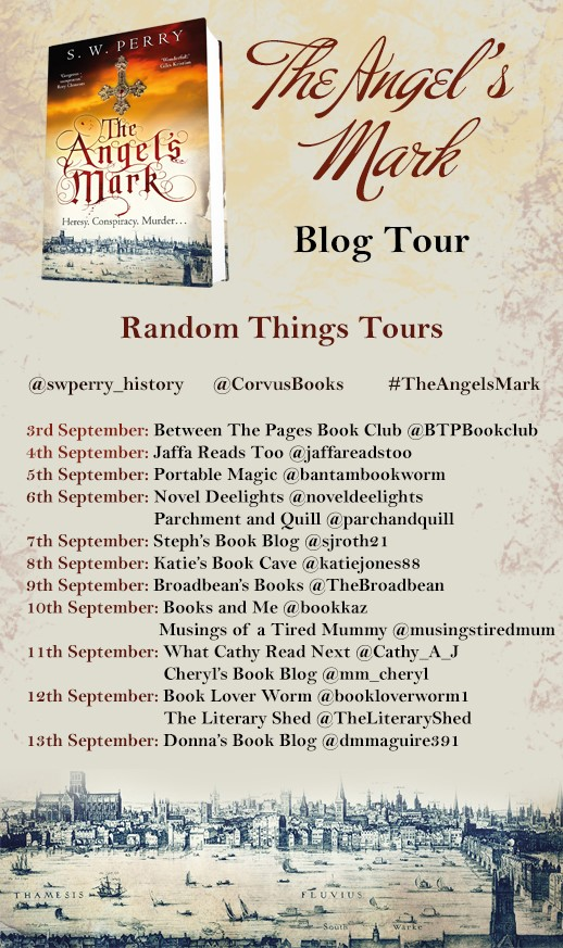The Angel's Mark Blog Tour poster