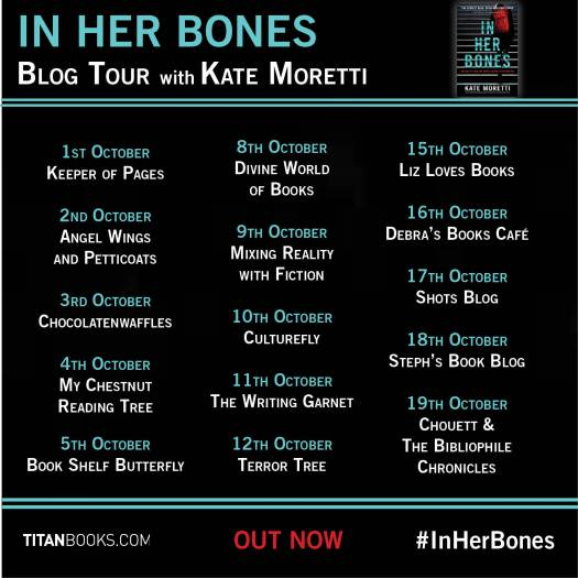 In Her Bones blog tour banner