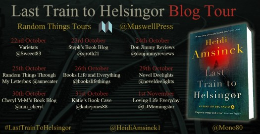 Last Train to Helsingor Blog Tour poster