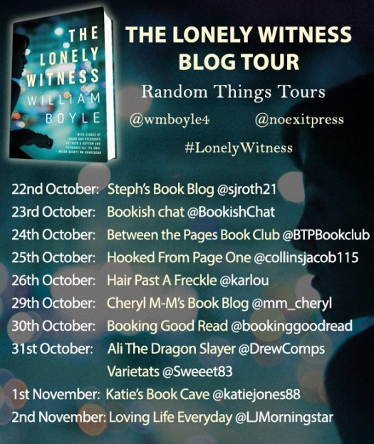 The Lonely Witness Blog Tour Poster